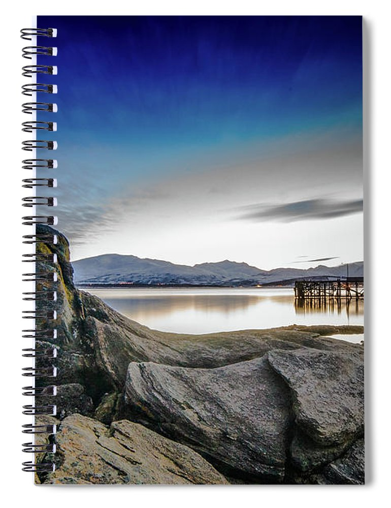 Hiking Spiral Notebook featuring the photograph Tromso by Kai Mueller