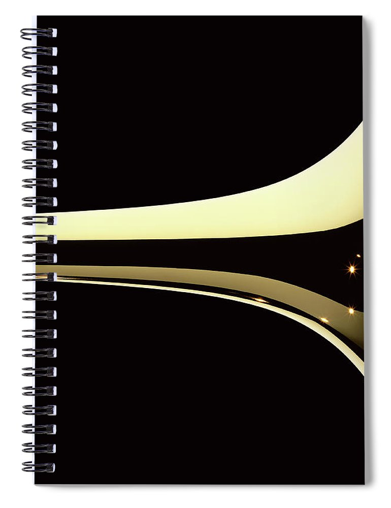 Curve Spiral Notebook featuring the photograph Trumpet by Plainview