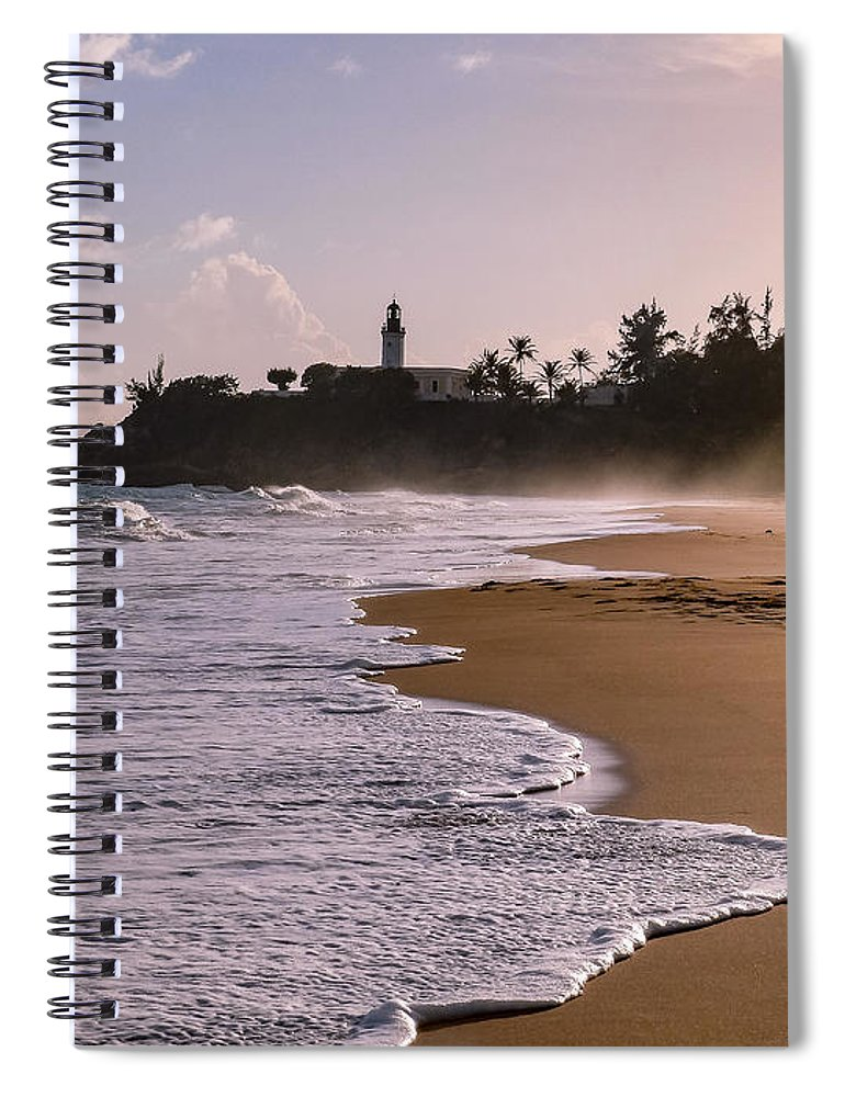 Ocean Spiral Notebook featuring the photograph Tuna Punta Lighthouse And Beach In Puerto Rico by G Matthew Laughton