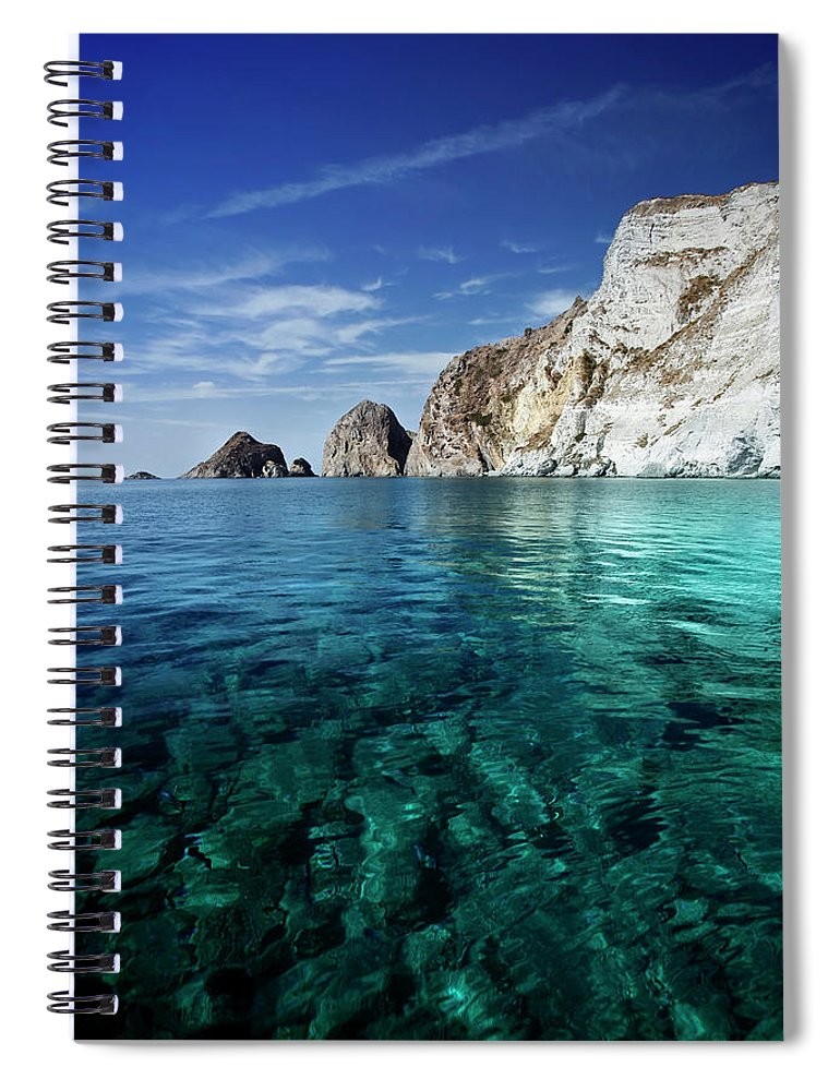 Scenics Spiral Notebook featuring the photograph Typical Mediterranean Sea In Italy by Piola666