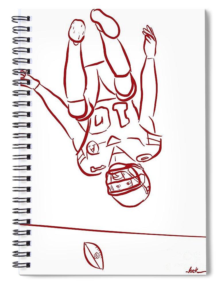 Tyreek Hill Coloring Book Spiral Notebook