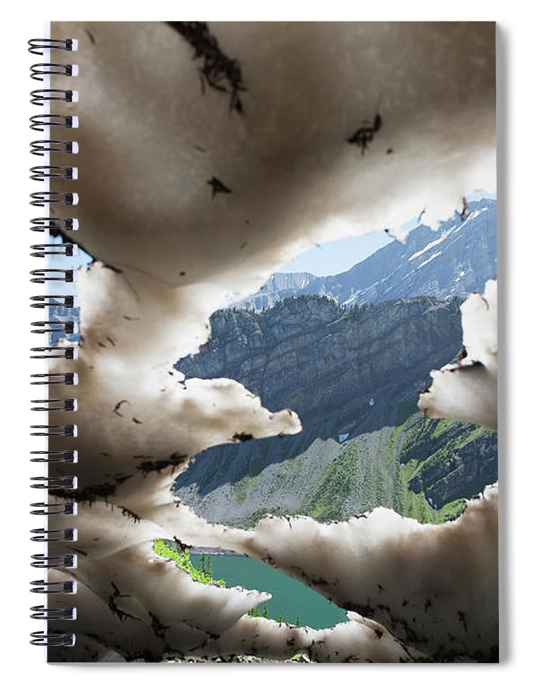 Scenics Spiral Notebook featuring the photograph Underneath A Melting Snow Pack With by Michael Interisano / Design Pics