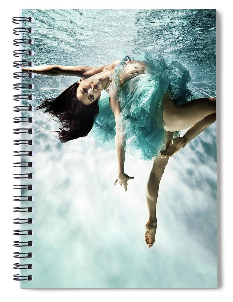 Ballet Dancer Spiral Notebook featuring the photograph Underwater Ballet by Henrik Sorensen