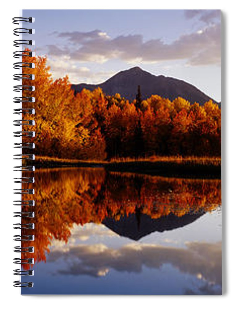 Water's Edge Spiral Notebook featuring the photograph Usa, Colorado, Telluride, Sunrise Peak by Jeremy Woodhouse