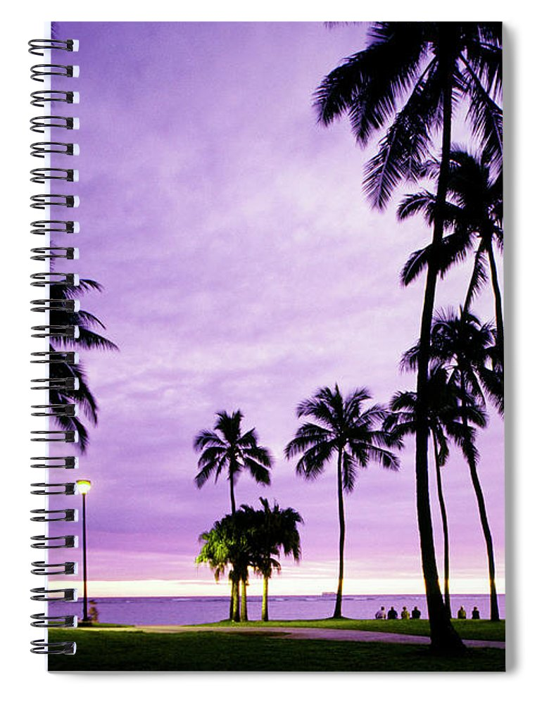 Scenics Spiral Notebook featuring the photograph Usa, Hawaii, Oahu, Honolulu, Waikiki by Maremagnum