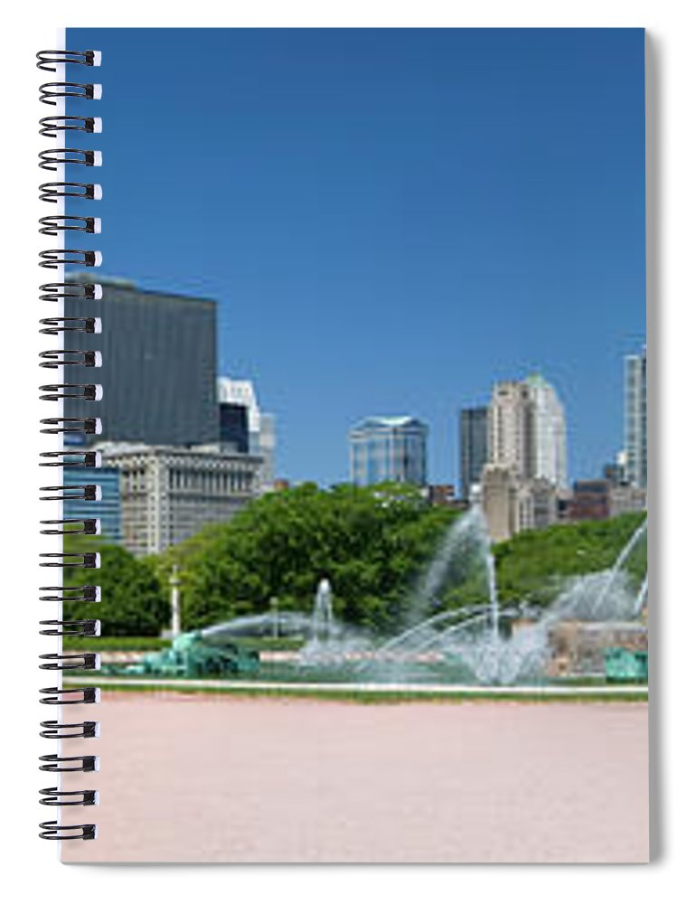 Panoramic Spiral Notebook featuring the photograph Usa, Michigan, Chicago, Buckingham by Travelpix Ltd