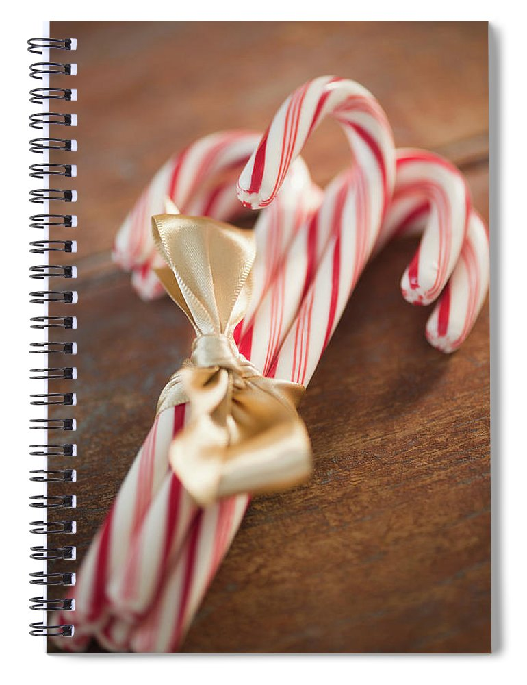 Close-up Spiral Notebook featuring the photograph Usa, New Jersey, Jersey City, Candy by Jamie Grill
