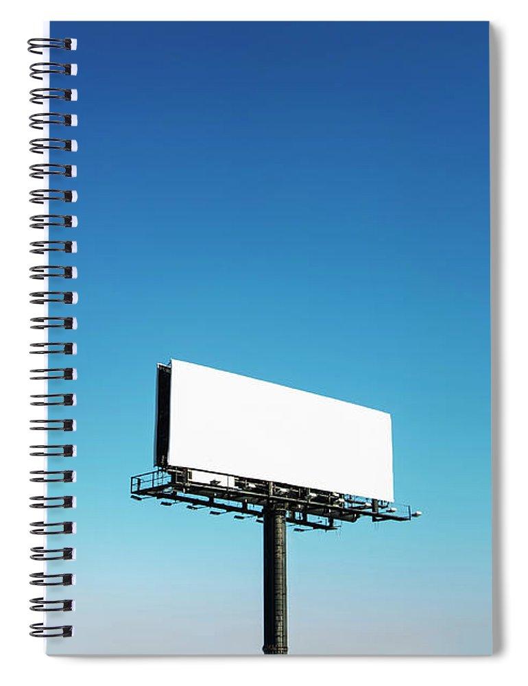 North Carolina Spiral Notebook featuring the photograph Usa, North Carolina, Billboard Under by Tetra Images