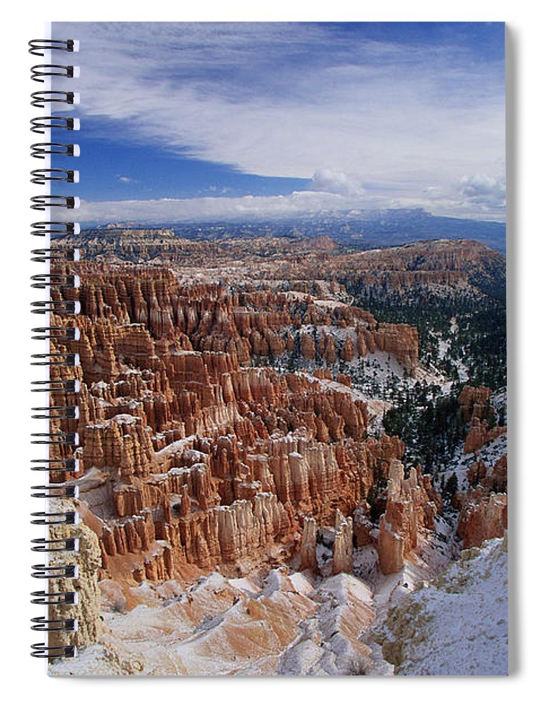 Snow Spiral Notebook featuring the photograph Usa, Utah, Winter Bryce Canyon by Stan Osolinski