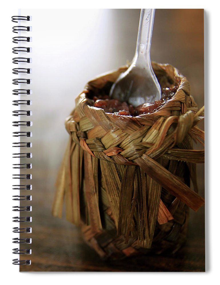 Chinese Culture Spiral Notebook featuring the photograph Vanilla Rice by 100