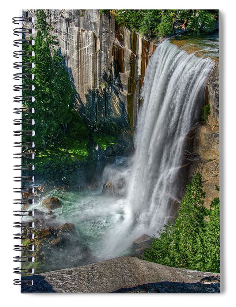 Scenics Spiral Notebook featuring the photograph Vernal Falls by Aaron Meyers