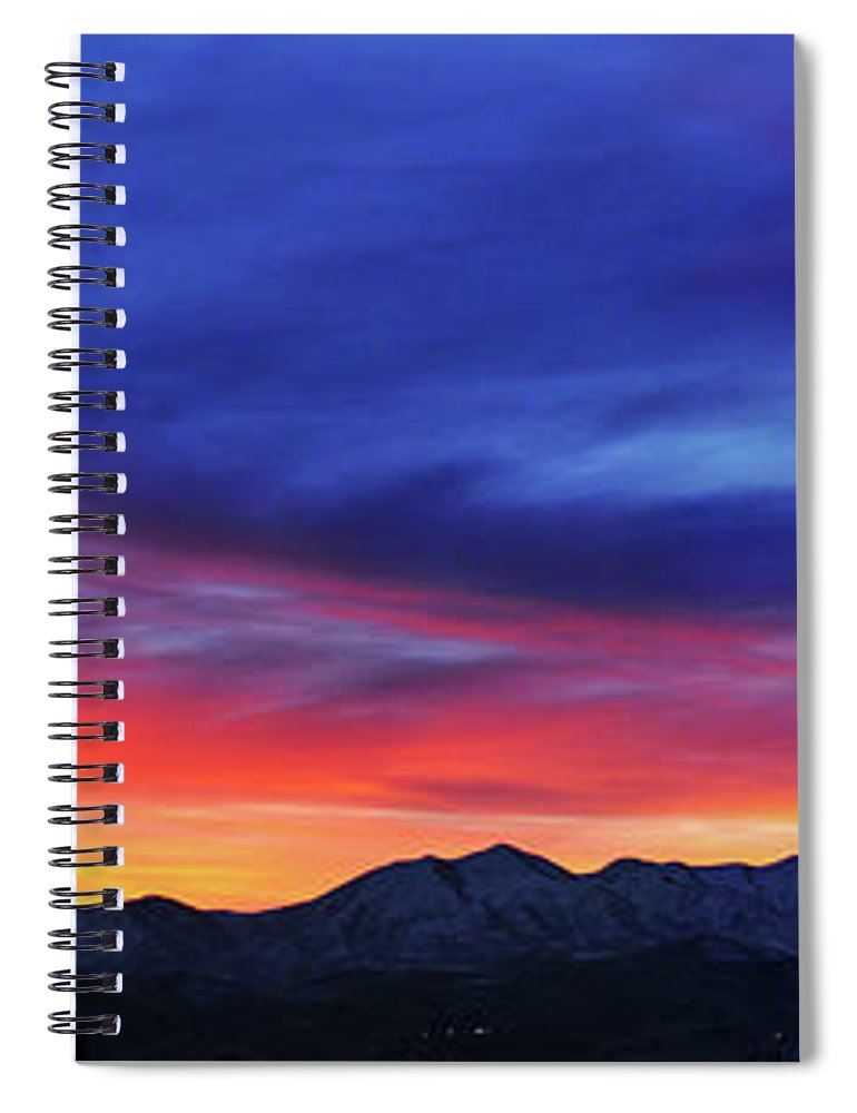 Scenics Spiral Notebook featuring the photograph View Of City by Utah-based Photographer Ryan Houston