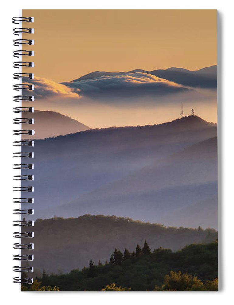 North Carolina Spiral Notebook featuring the photograph View Of Frying Pan Mountain by Fine Art Images By Rob Travis Photography
