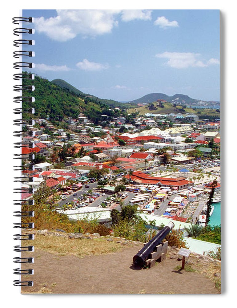 Scenics Spiral Notebook featuring the photograph View Of Marigot Bay From St. Louis by Medioimages/photodisc