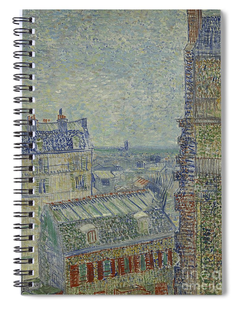 Vincent Spiral Notebook featuring the painting View Of Paris From Theos Apartment In The Rue Lepic, 1887 by Vincent Van Gogh