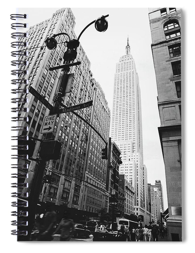 Outdoors Spiral Notebook featuring the photograph View Of The Empire State Building, New by Martin Child