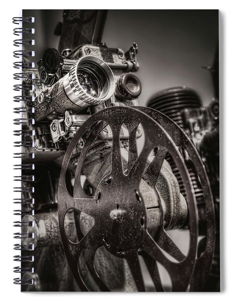 Projector Spiral Notebook featuring the photograph Vintage 16mm by Scott Norris