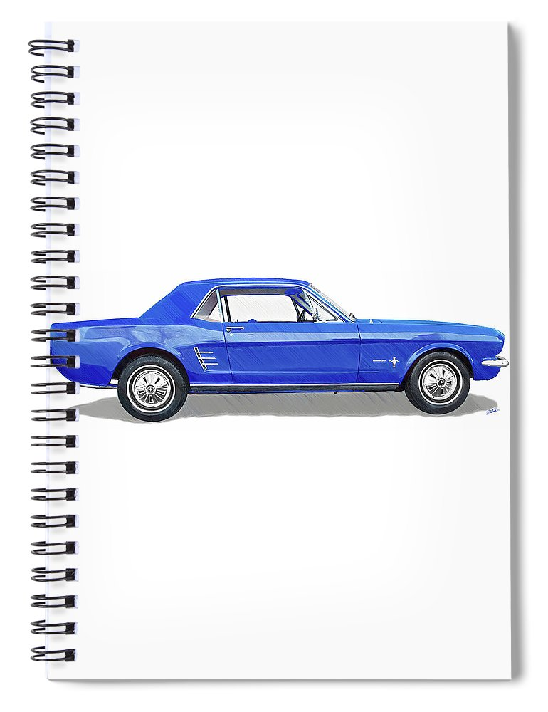 Automobile Spiral Notebook featuring the drawing Vintage Ford Mustang - Dwp3864868 by Dean Wittle