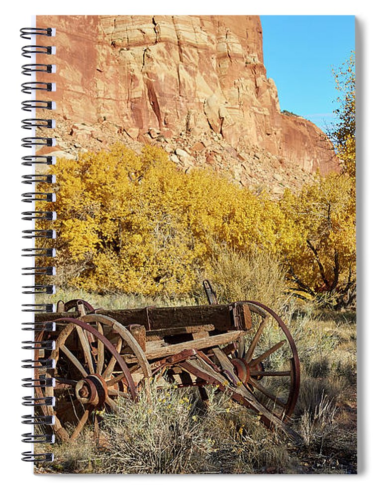 Rock Formation Spiral Notebook featuring the photograph Vintage Wagon by Paul Freidlund