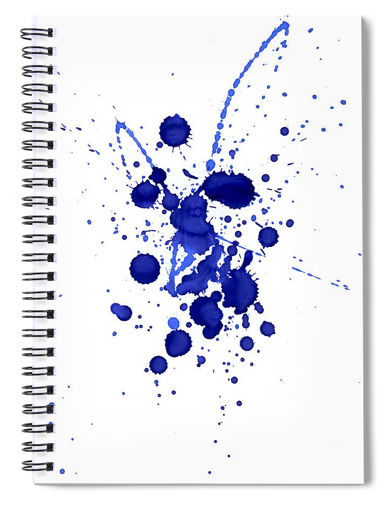 Watercolor Painting Spiral Notebook featuring the photograph Violet Splashes by Alenchi