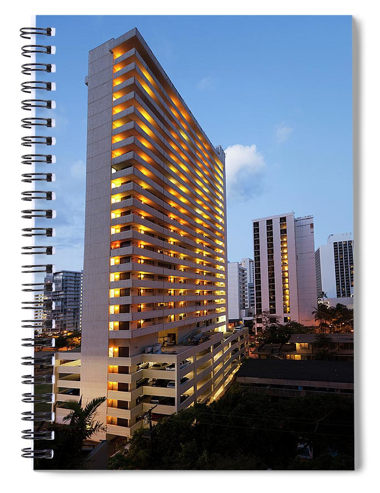 Honolulu Spiral Notebook featuring the photograph Waikiki Morning by Slobo
