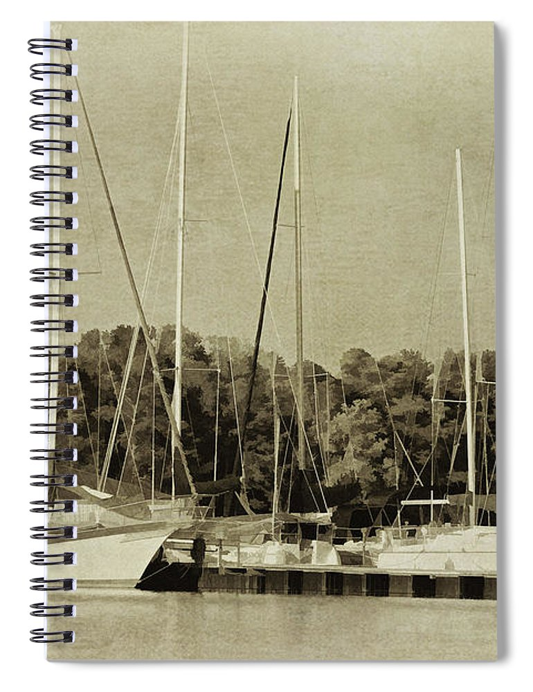 Sporting Spiral Notebook featuring the photograph Waiting To Sail II by Danny Head