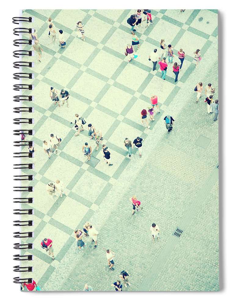 Pedestrian Spiral Notebook featuring the photograph Walking People by Carlo A