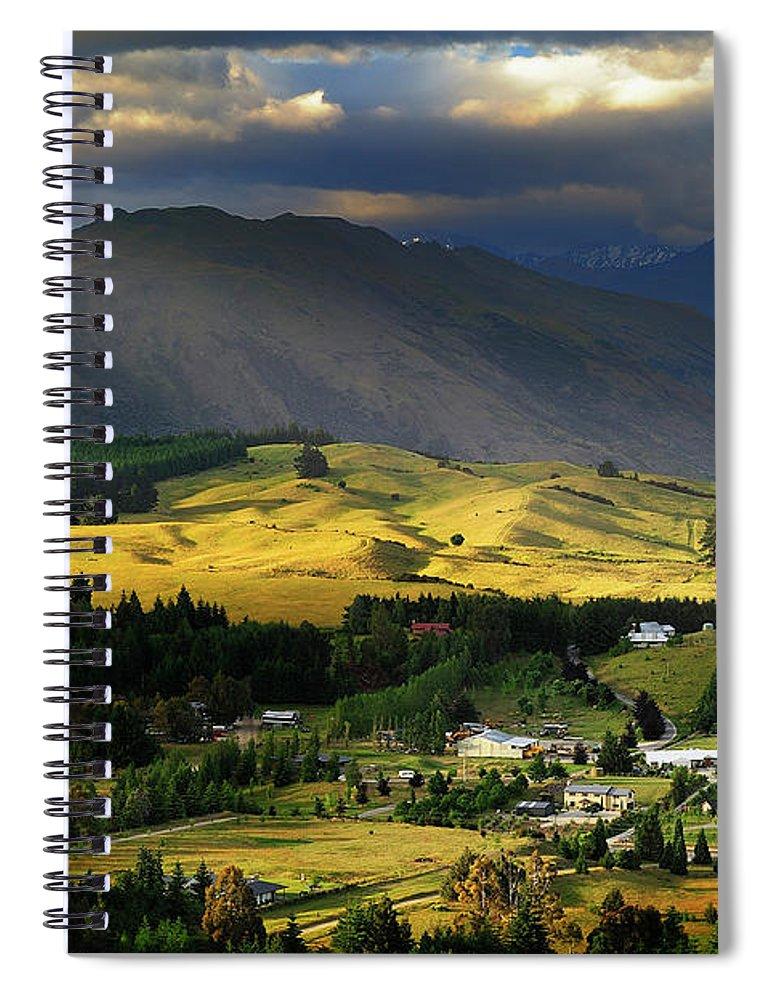 Scenics Spiral Notebook featuring the photograph Wanaka, New Zealand by Atomiczen