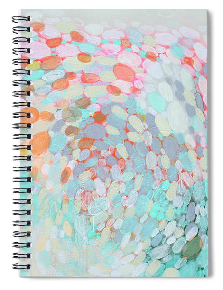 Abstract Spiral Notebook featuring the painting Want To Go by Claire Desjardins