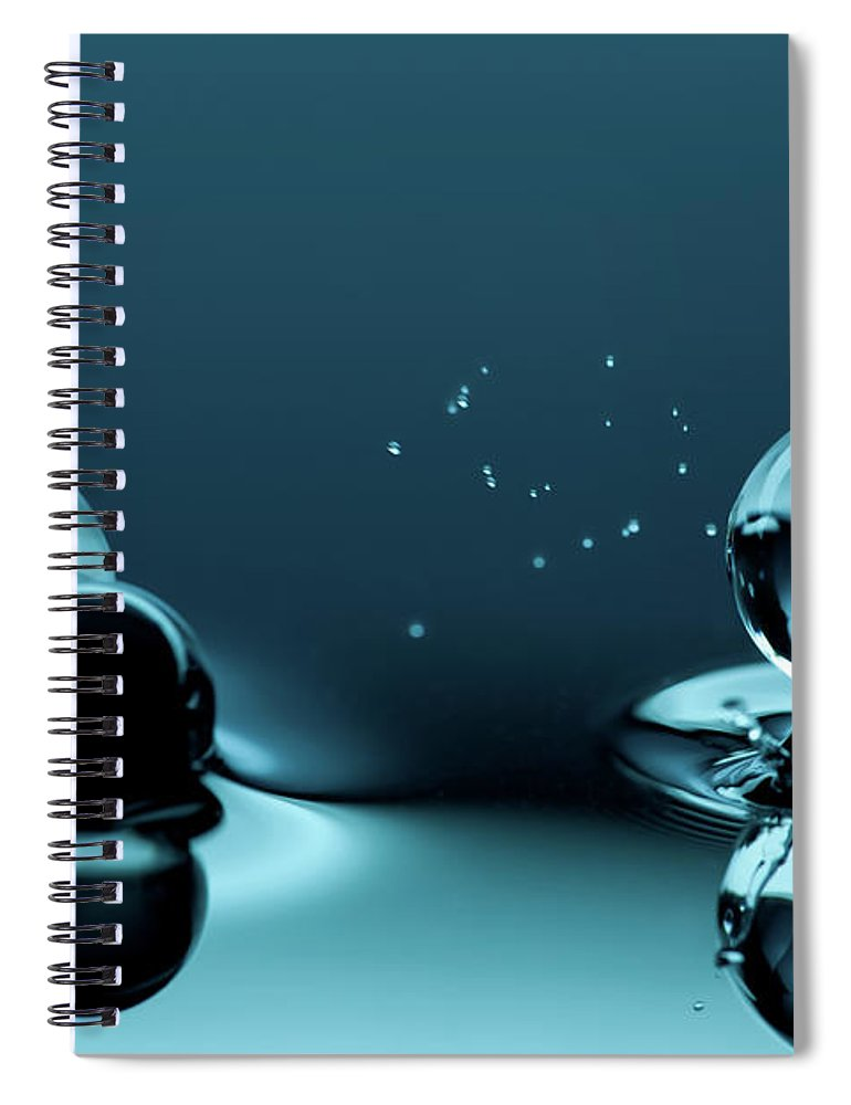 Atlanta Spiral Notebook featuring the photograph Water Balls by Alex Koloskov Photography