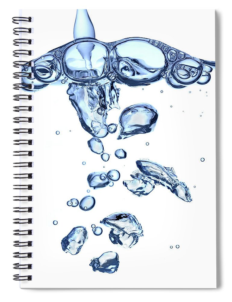 Underwater Spiral Notebook featuring the photograph Water Bubbles by Trout55