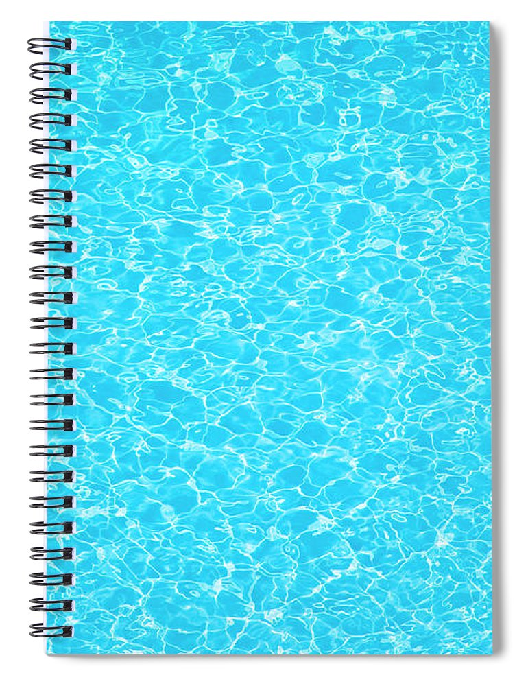 Cool Attitude Spiral Notebook featuring the photograph Water Wave Pattern Of Swimming Pool by Anddraw