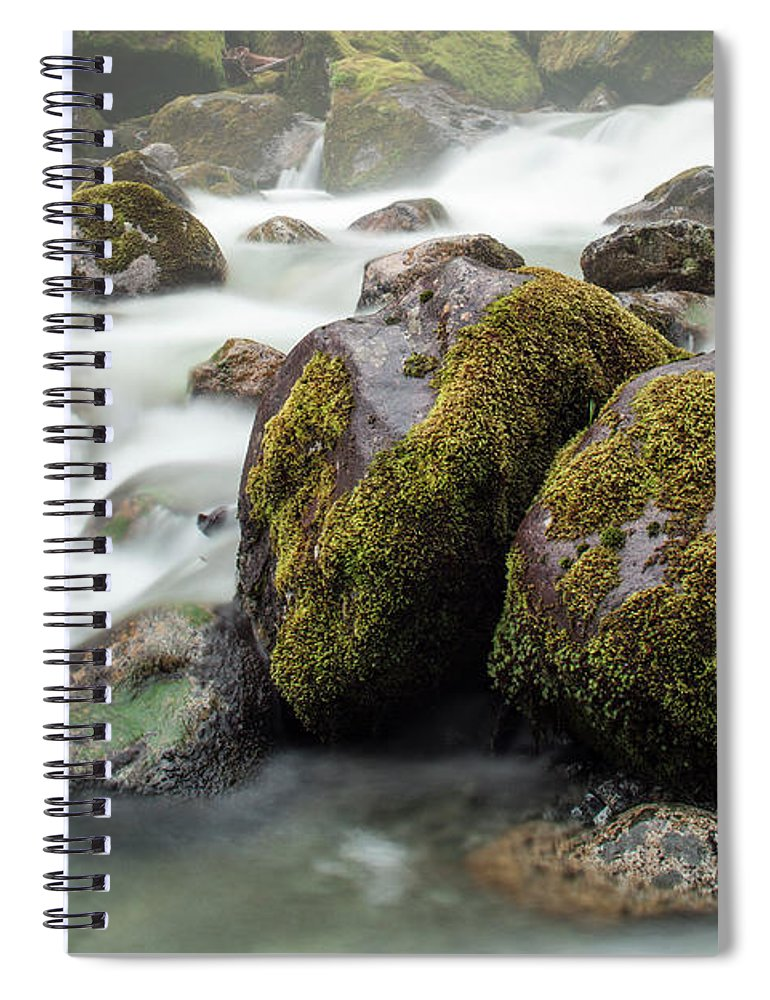Tranquility Spiral Notebook featuring the photograph Waterfall, Bc, Canada by Paul Souders