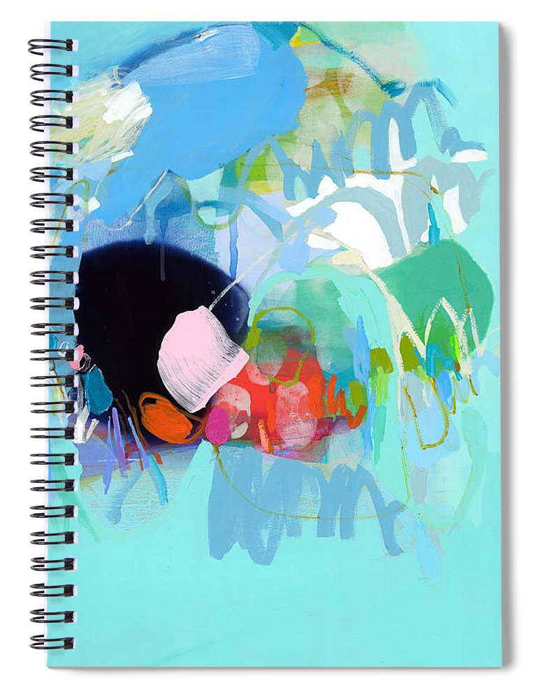 Abstract Spiral Notebook featuring the painting West Coast Wanderlust by Claire Desjardins