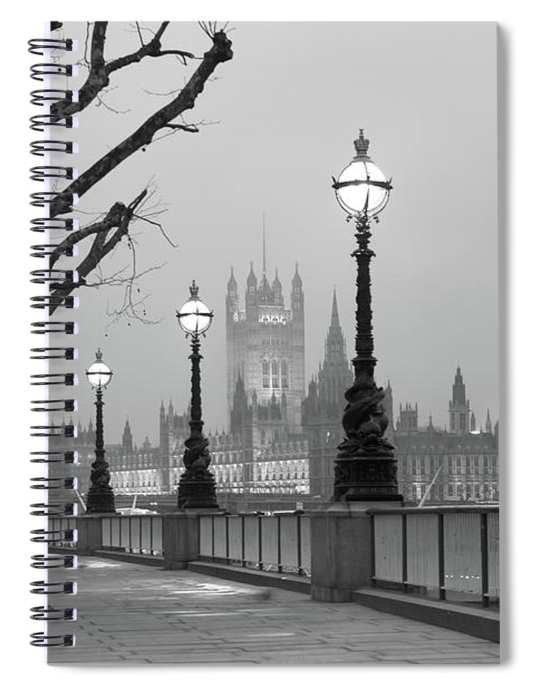 Scenics Spiral Notebook featuring the photograph Westminster At Dawn, London by Gp232