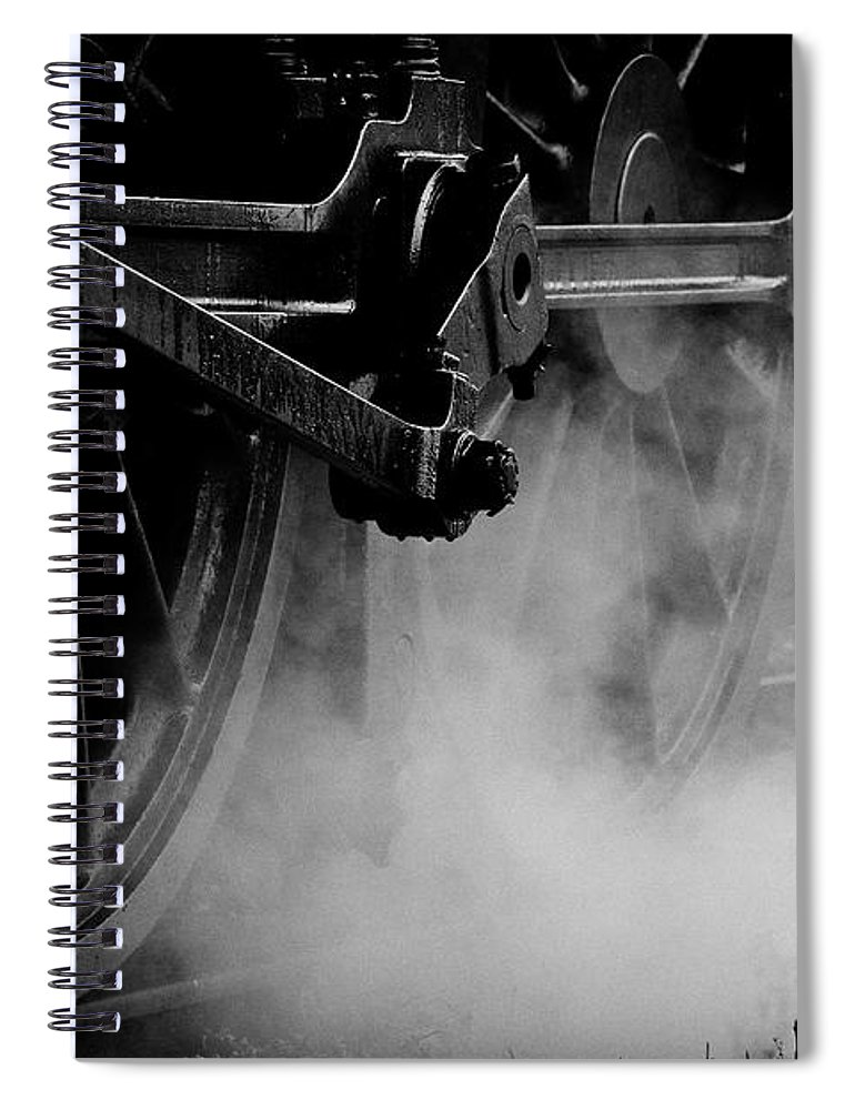 Vehicle Part Spiral Notebook featuring the photograph Wheels State Railway Of Thailand Srt by Nobythai