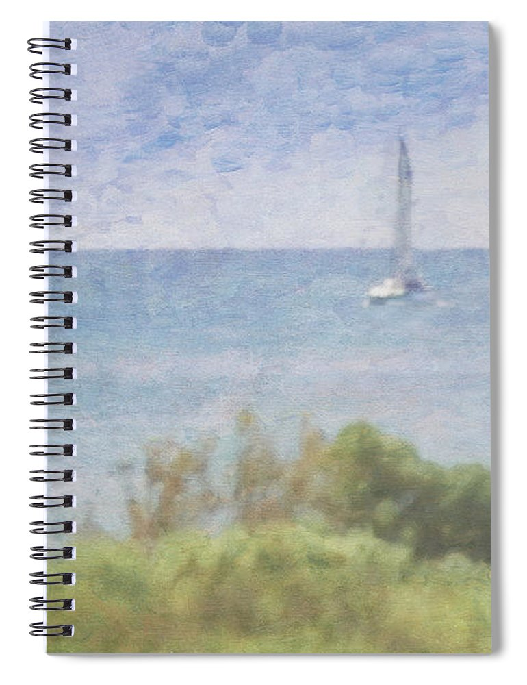 Tranquility Spiral Notebook featuring the photograph When Your Boat Comes In by Craig Hewson