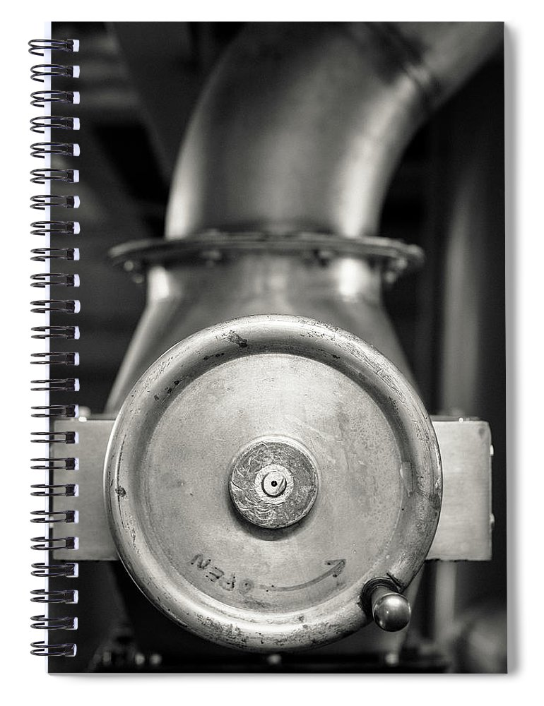 Mono Spiral Notebook featuring the photograph Whisky Distillery No14 by Dave Bowman