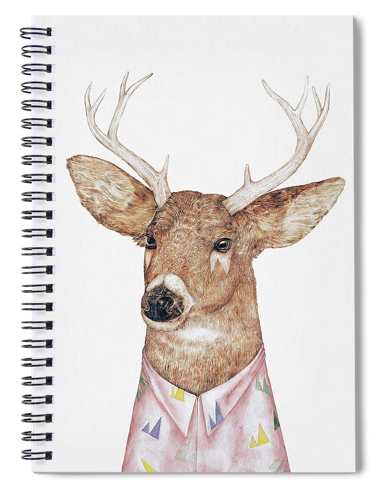 Deer Spiral Notebook featuring the painting White-Tailed Deer by Animal Crew