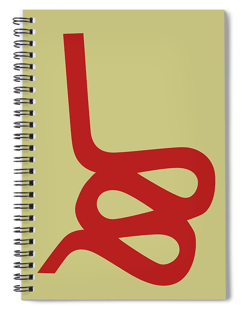Spiral Notebook featuring the digital art Wiggle Side Chair I by Naxart Studio