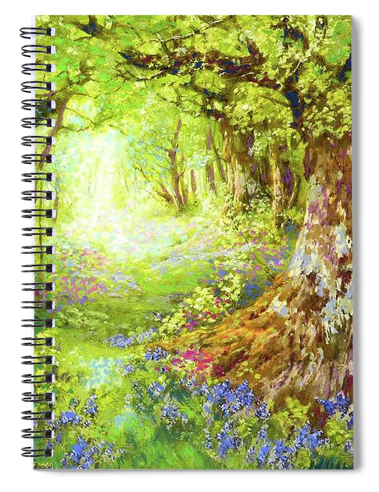 Sun Spiral Notebook featuring the painting Wildflower Delight by Jane Small