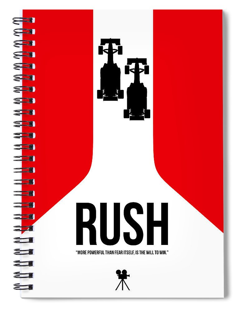 Rush Spiral Notebook featuring the digital art Will To Win by Naxart Studio