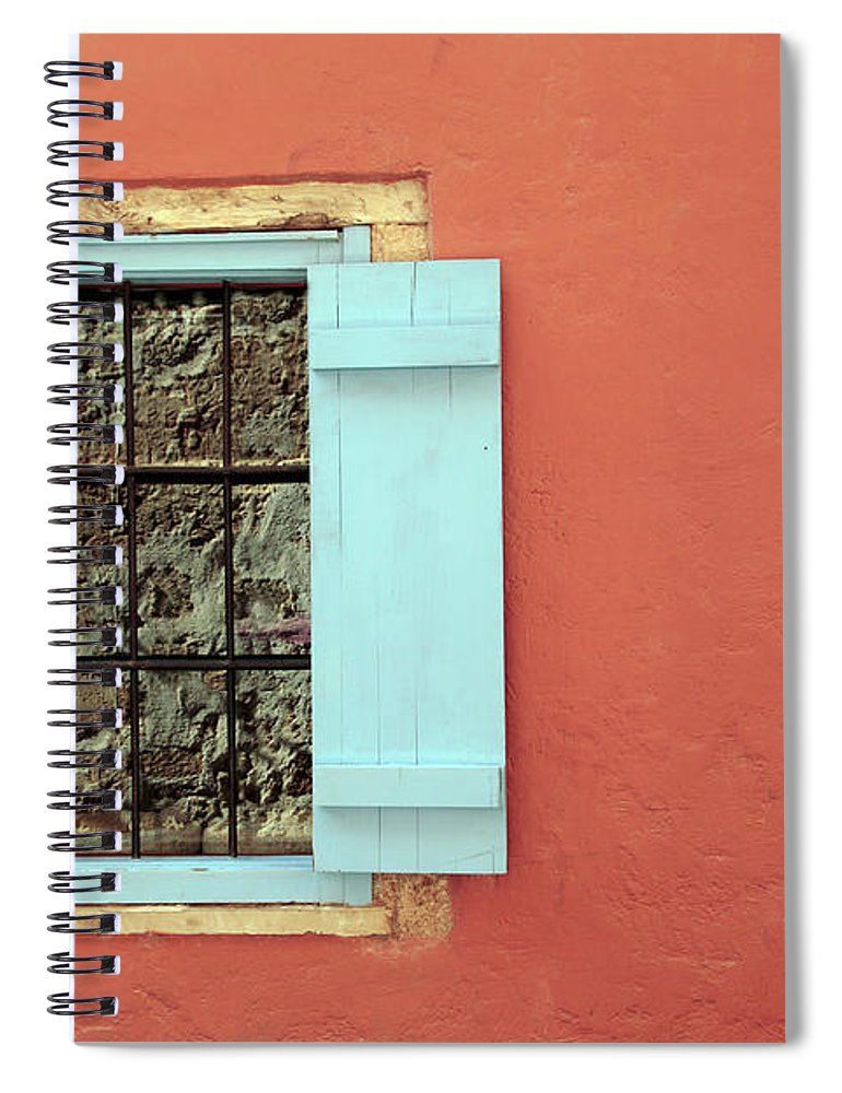 Greece Spiral Notebook featuring the photograph Window by Maria Toutoudaki