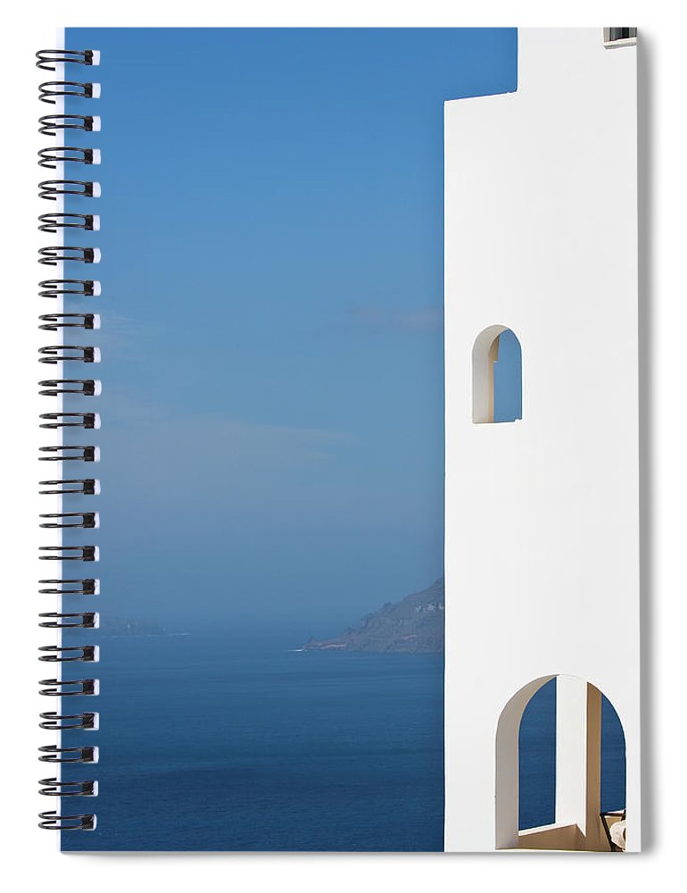 Greece Spiral Notebook featuring the photograph Windows To The Blue by Arturbo