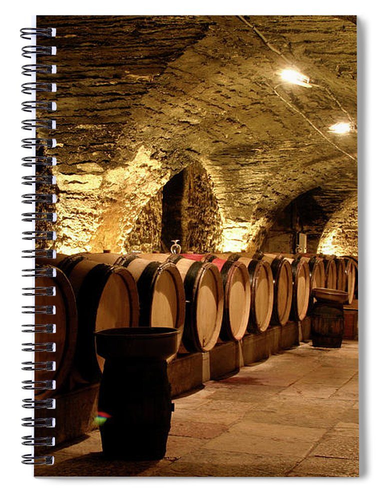 Arch Spiral Notebook featuring the photograph Wine Cellar by Brasil2