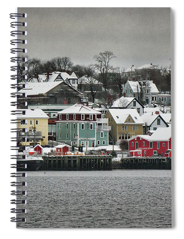 Snow Spiral Notebook featuring the photograph Winter In Lunenburg by Amanda White