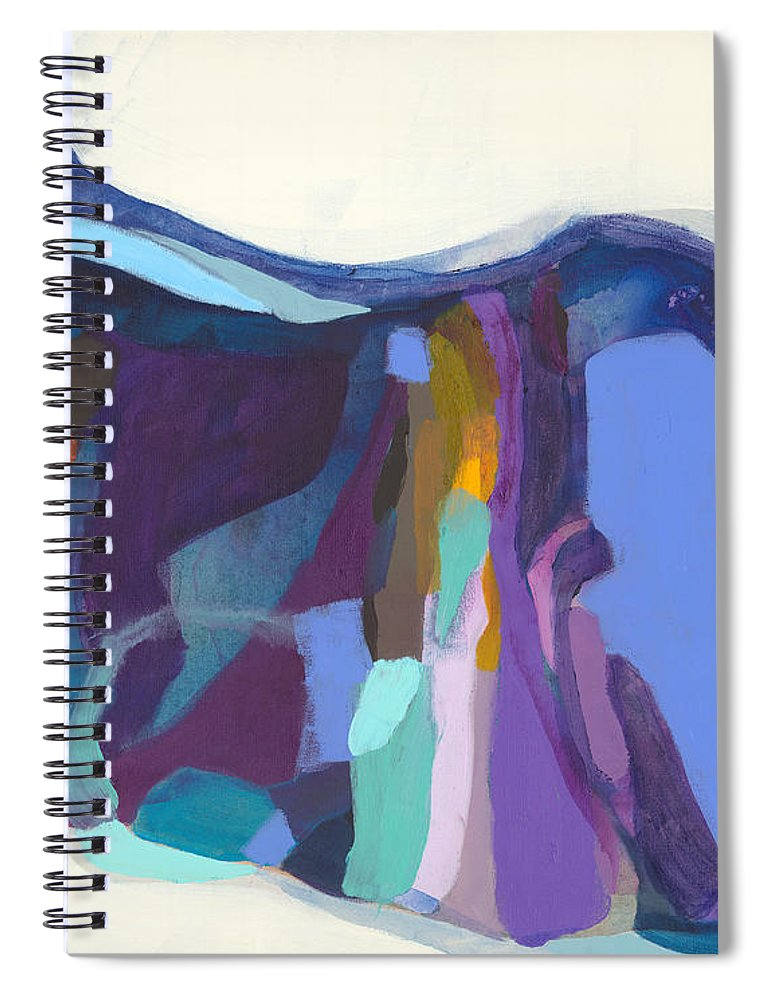 Abstract Spiral Notebook featuring the painting With Grace by Claire Desjardins