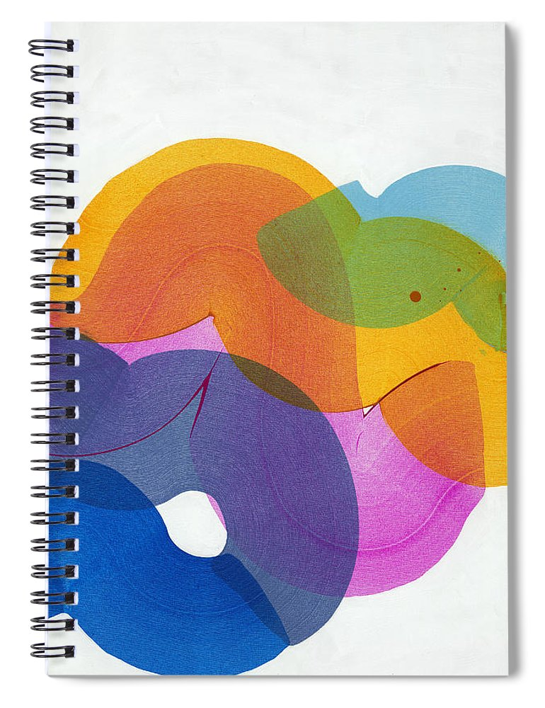 Abstract Spiral Notebook featuring the painting With Love by Claire Desjardins