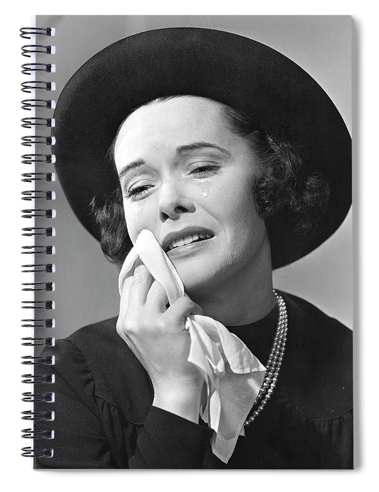 People Spiral Notebook featuring the photograph Woman Mourning by George Marks
