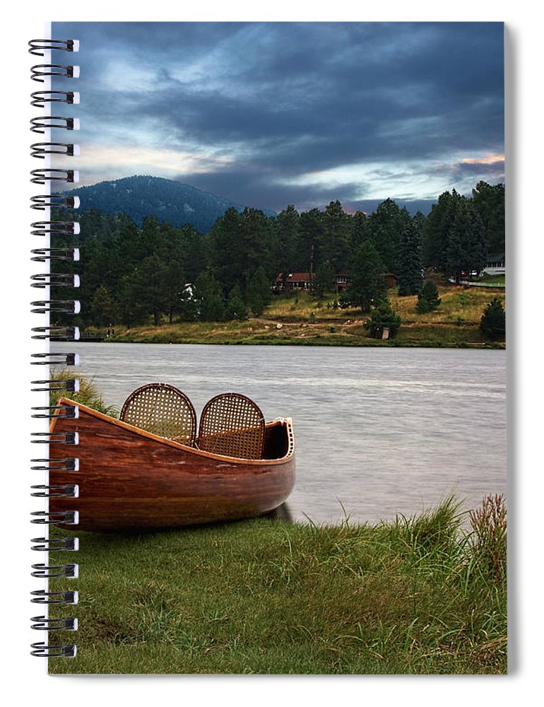 Tranquility Spiral Notebook featuring the photograph Wood Canoe by Brad Mcginley Photography